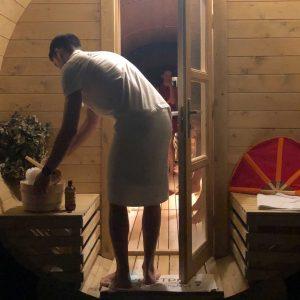 Sauna finlandese rituale