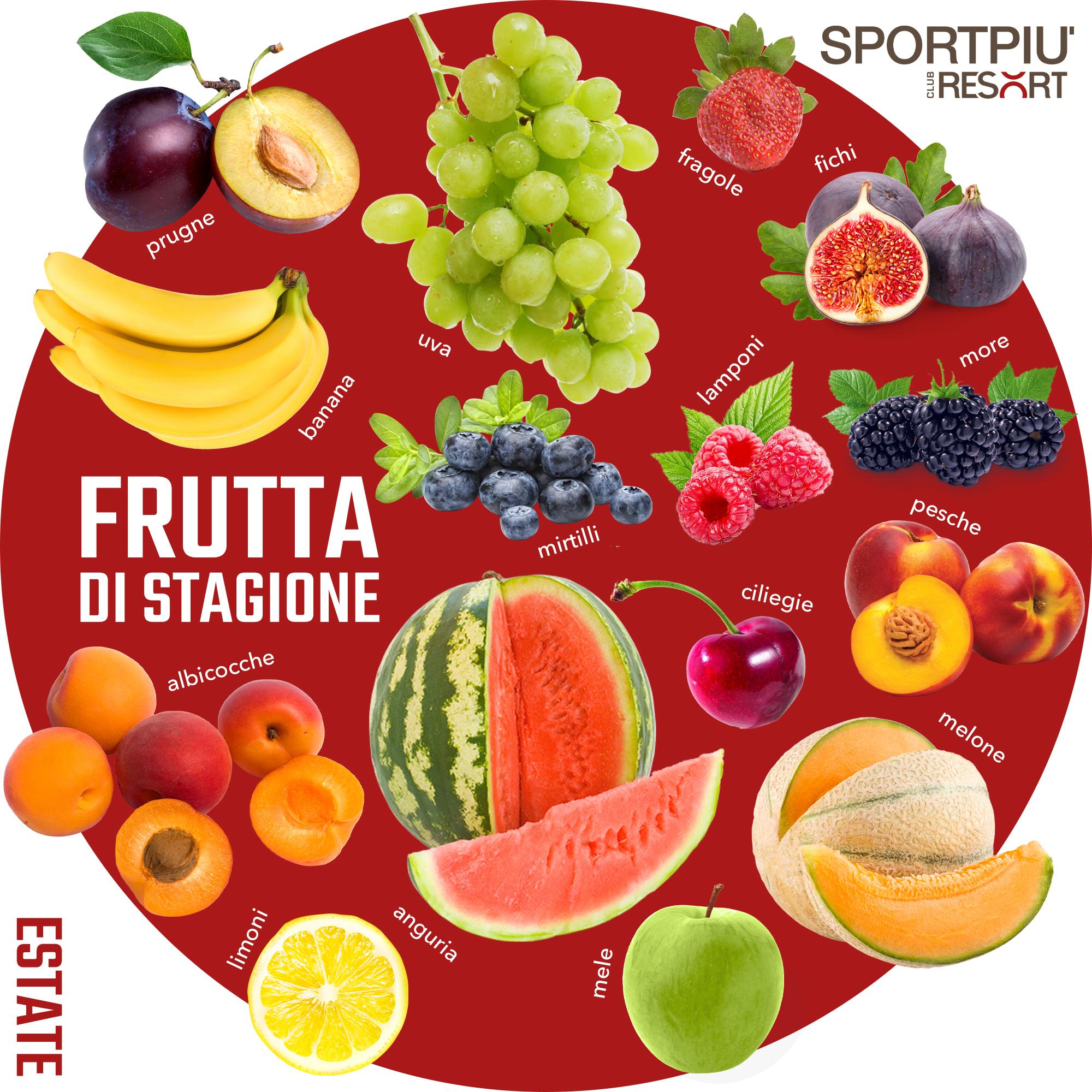 frutta di stagione estate giugno luglio agosto