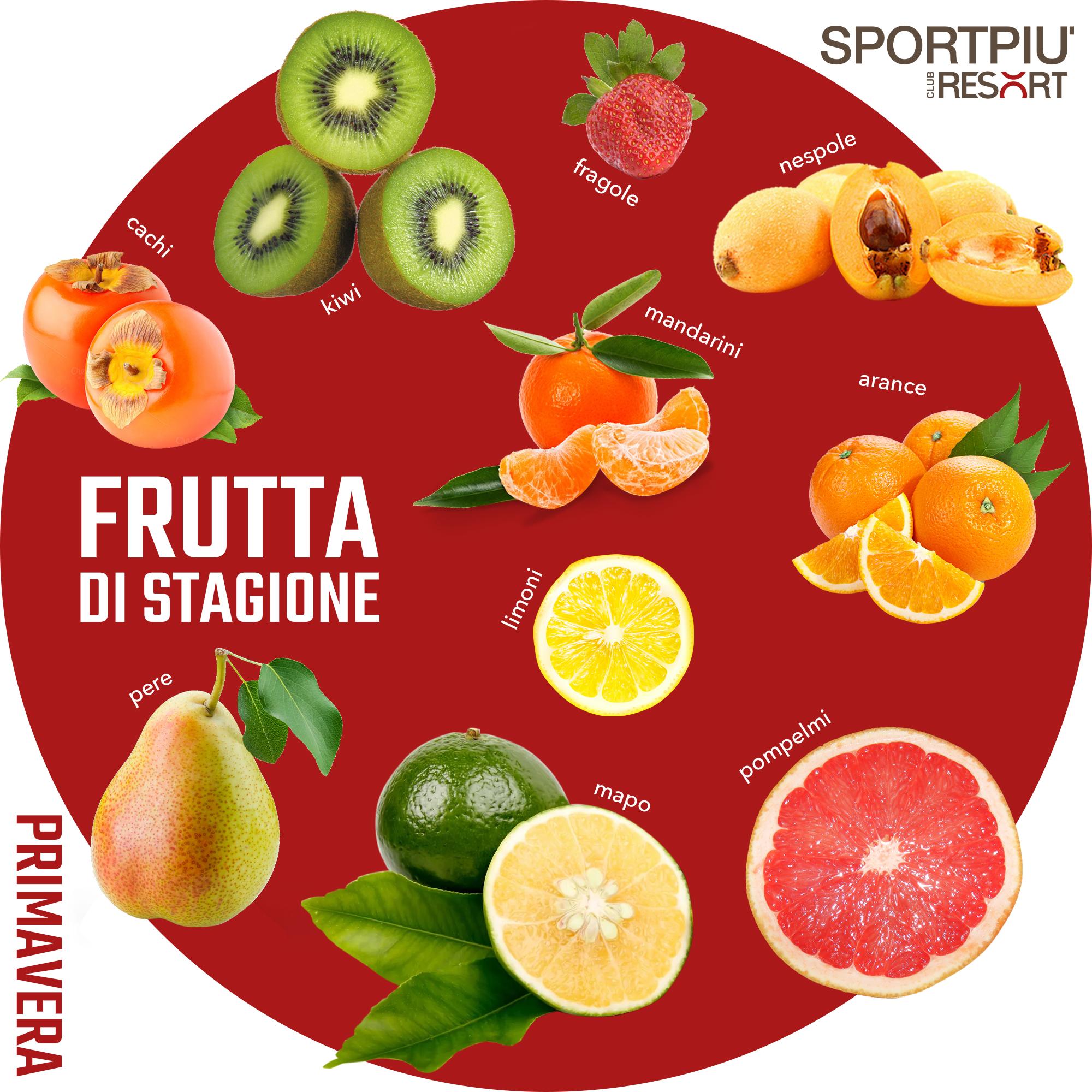 frutta di stagione primavera maggio